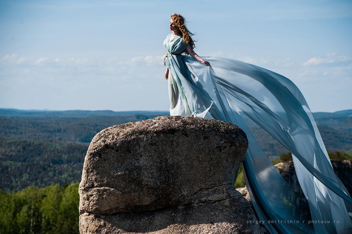 Платье длинное для фотосессии на природе