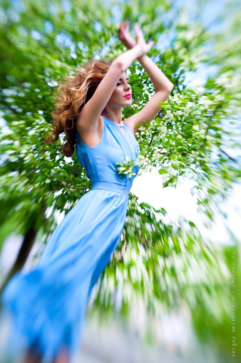 Девушка цветение фото